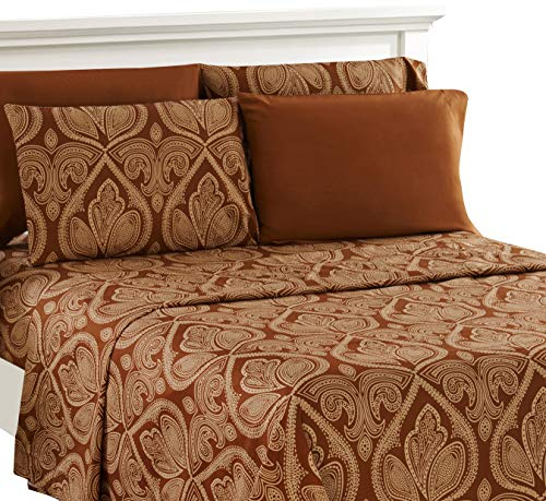 Utopia Bedding 4 Piece Bed Sheets Set King Navy 1 Flat
